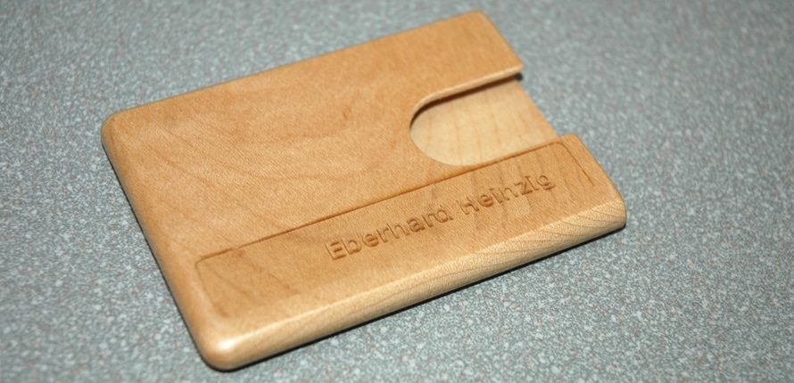 Etui Fur Visitenkarten Aus Holz
